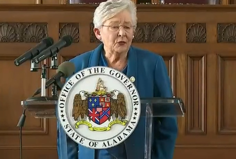 Gov. Kay Ivey holds a news conference on Nov. 5 to give an update on the state's response to...