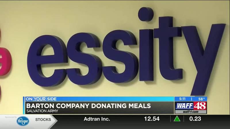 Barton Company Donates Meals