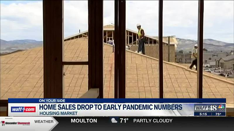 Home sales drop to levels last seen early in the pandemic