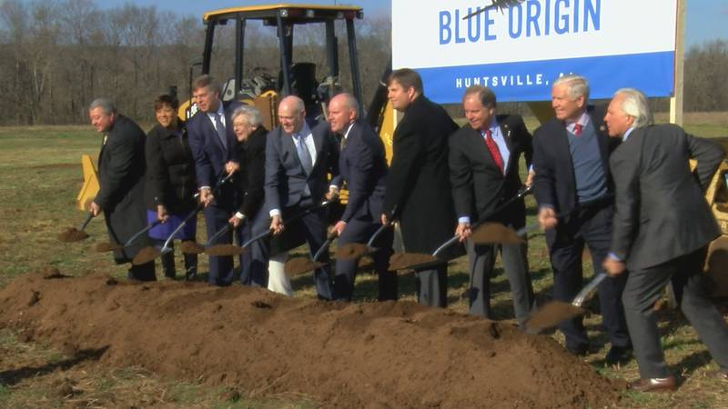 Ground was broken on the new Blue Origin plant at Cummings Research Park on Jan. 25, 2019.