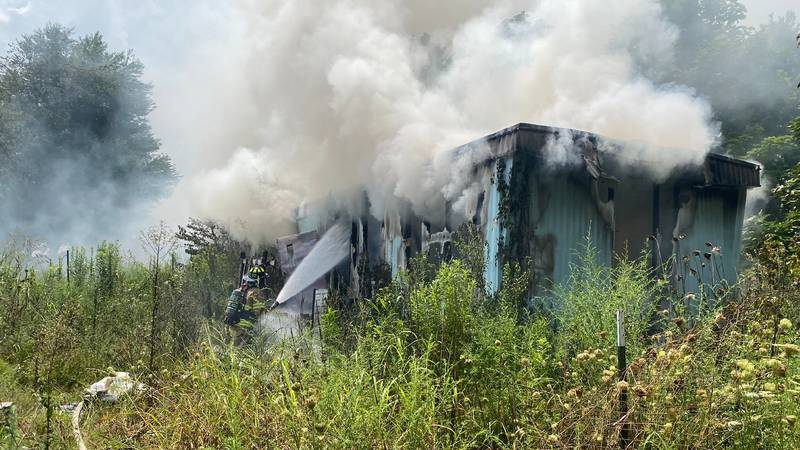 Mobile home fire in Toney