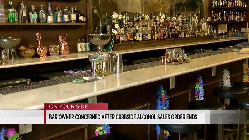 Bar owner concerned after curbside alcohol sales order ends
