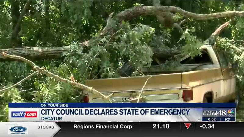 Decatur City Council declares state of emergency after Saturday's storms