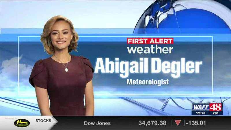 Abigail Degler shows you the forecast for Thursday afternoon.
