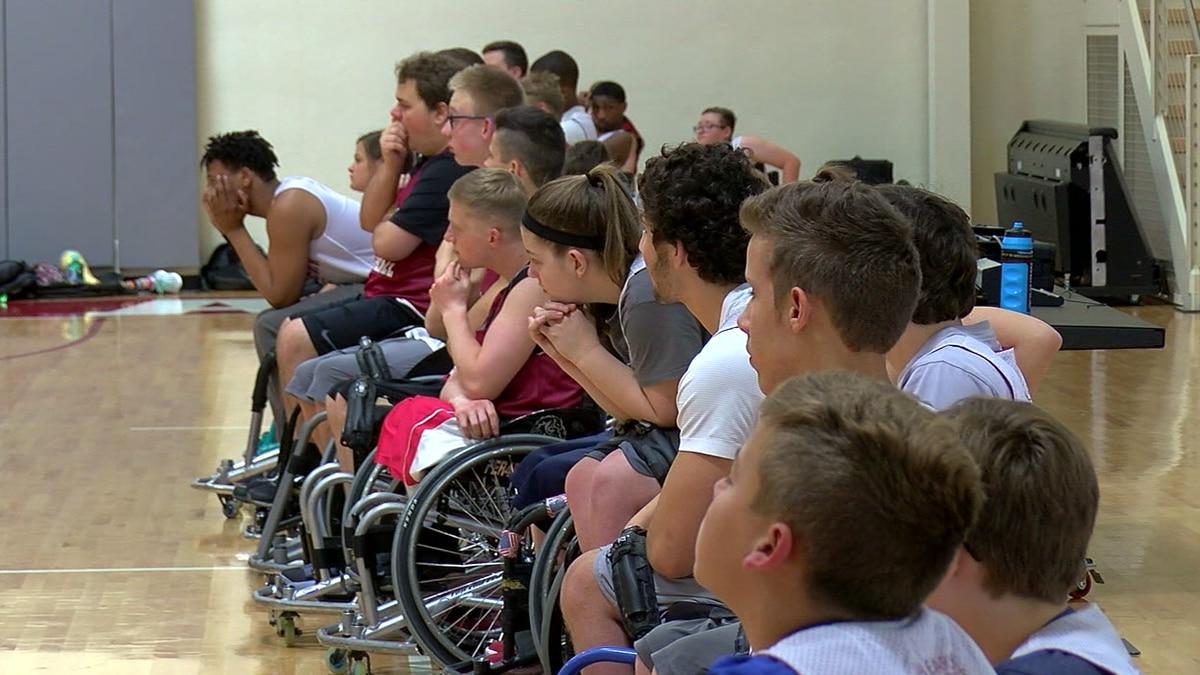 Wheelchair basketball camp at UA, Tuscaloosa, Ala.