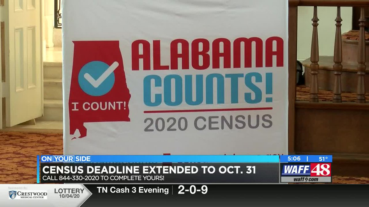 Census deadline extended to October 31