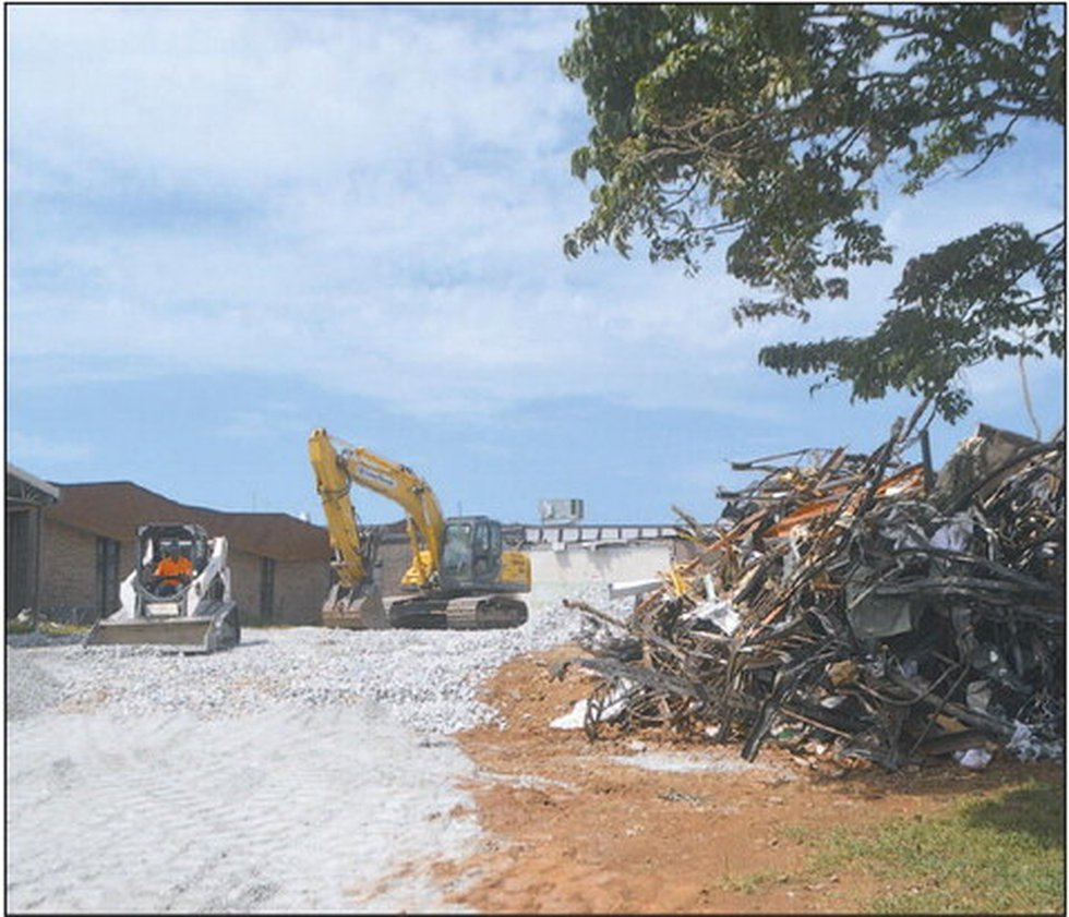 Demolition at the old West Limestone Elementary