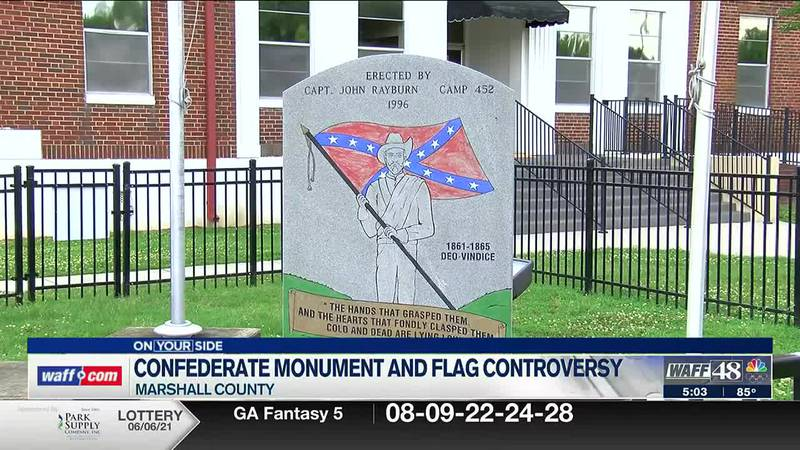Controversy continues over the Confederate monument and flag in Marshall County