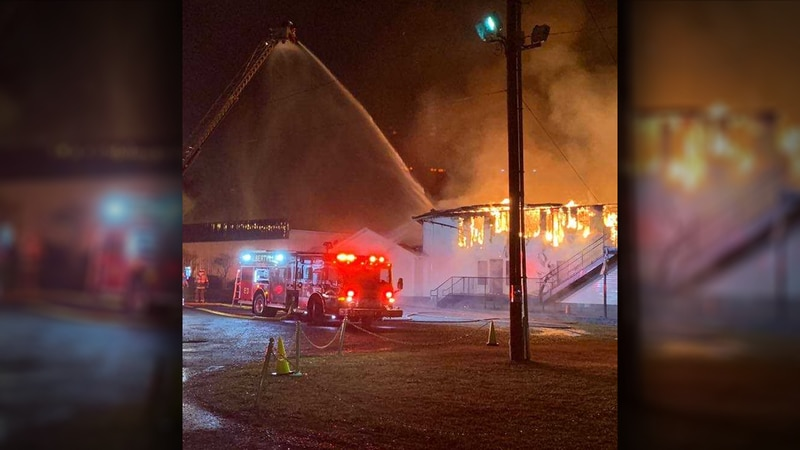 A large fire erupted at Lifepoint Church in Albertville on Feb. 7, 2019.