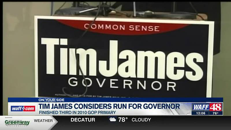 Tim James has indicated that he may challenge Gov. Ivey in the next election.