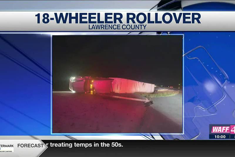 18-wheeler rollover accident