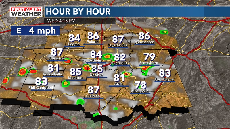 Storms again this afternoon
