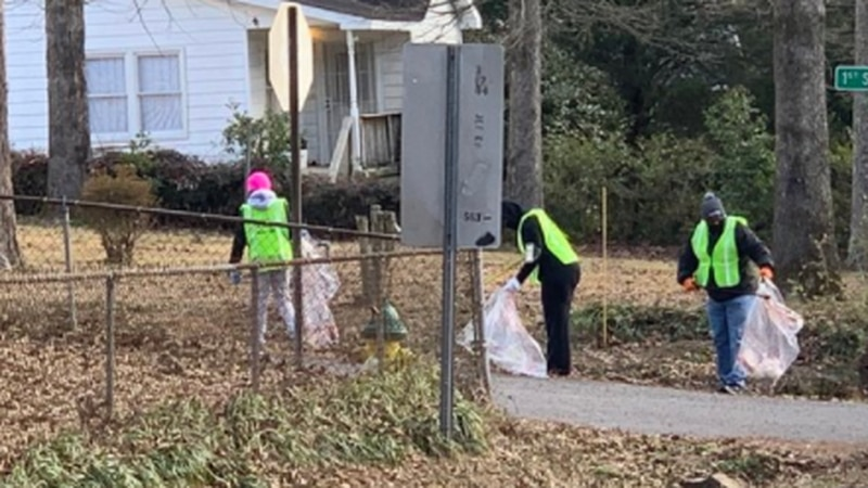 Volunteers and residents came together Saturday morning for MLK Day Service Day Community...