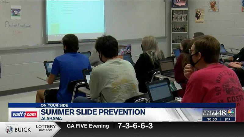 The summer slide prevention in Alabama