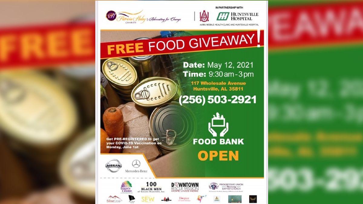 Free food giveaway held in Huntsville on Wednesday