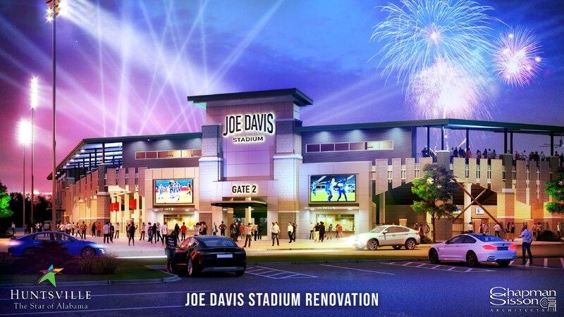An artist's rendering of the new Joe Davis Stadium