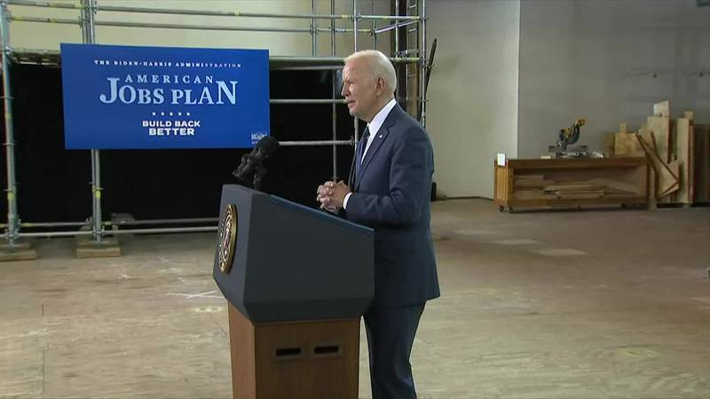 Pres. Biden promises a 'once-in-a-generation' investment during pitch for $2 trillion...
