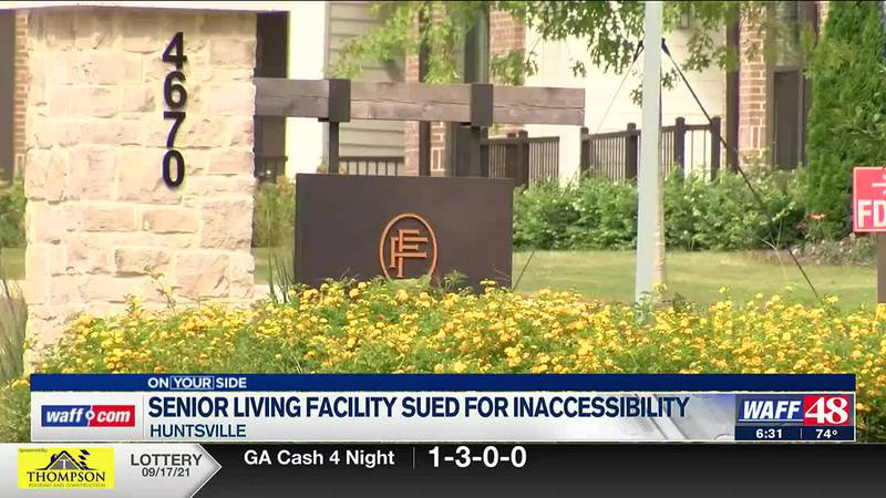A senior living facility is being sued for allegations of inaccessibility.