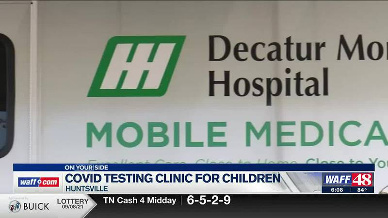 COVID-19 testing clinic for children