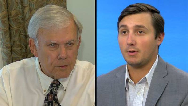 Walker McGinnis (left) and Ryan Renaud (right) are running for District 4 on the Huntsville...