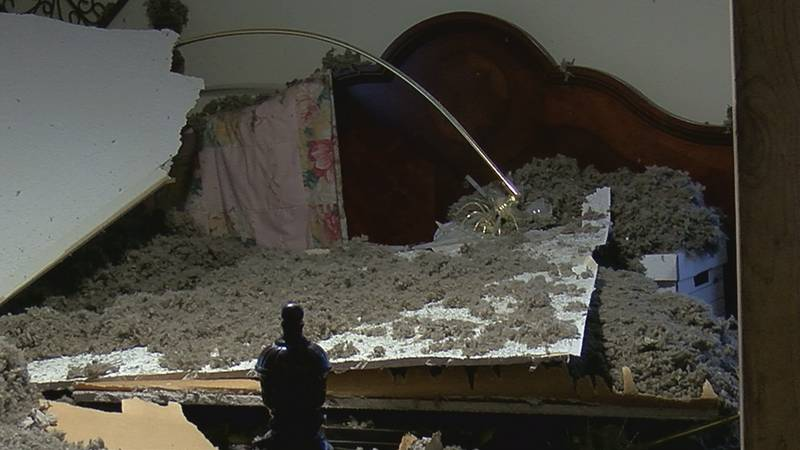 Insurance company can't find a reason why it collapsed.