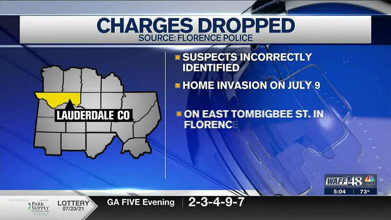 Suspects incorrectly identified in Florence County
