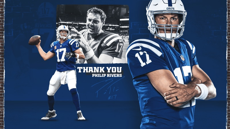 A thank you message from the Colts to Philip Rivers
