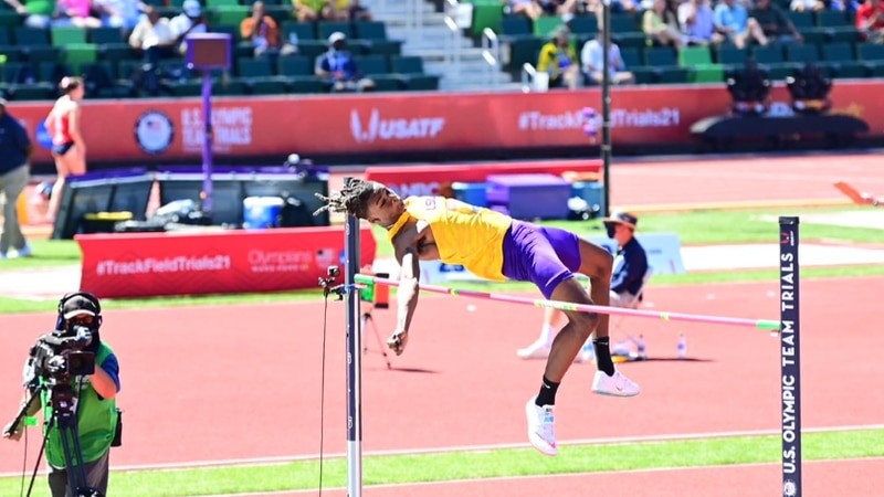 JuVaughn Harrison will compete in both the long jump and the high jump at the Tokyo Summer...