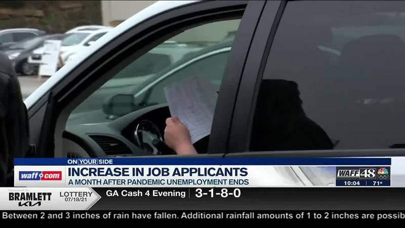 Increase in job applicants