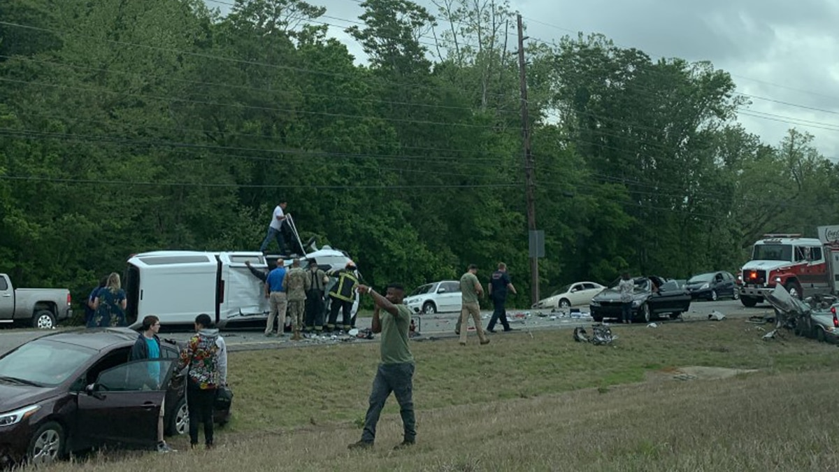 Officials responded to multiple accidents on Highway 53 Thursday morning