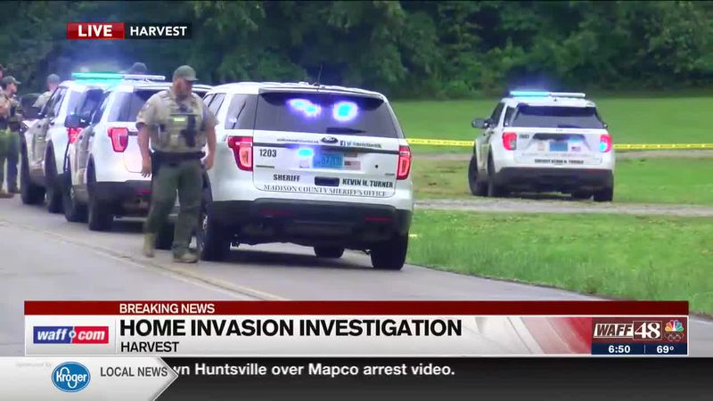 Home invasion investigation in Harvest