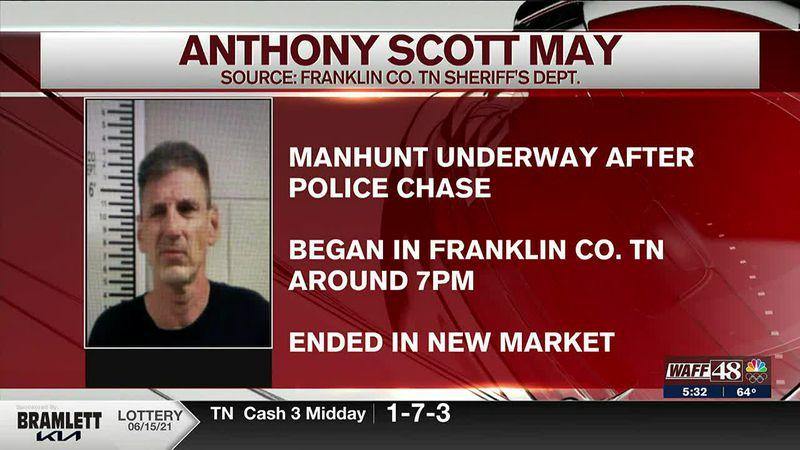 Anthony Scott May manhunt underway