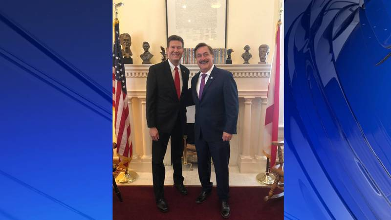 Sec. of State John Merrill met with Mike Lindell of My Pillow fame to discuss the 2020 election.