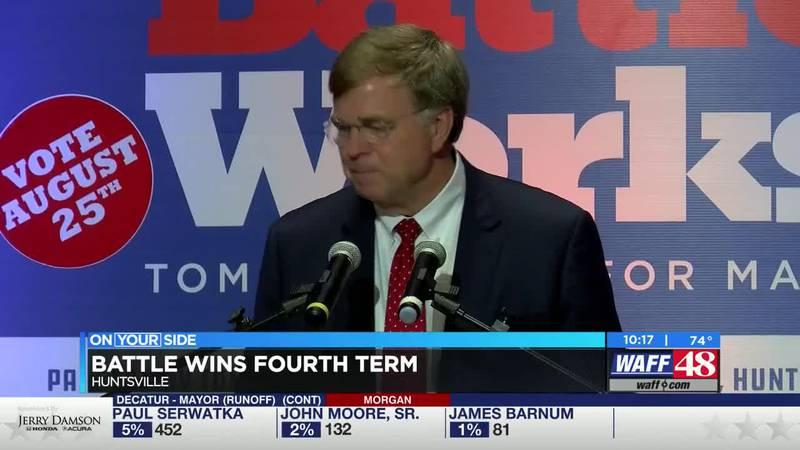 Huntsville Elections: Battle wins fourth term