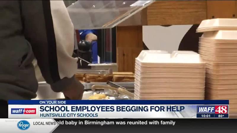 Huntsville City School nutrition workers pleading for staffing help