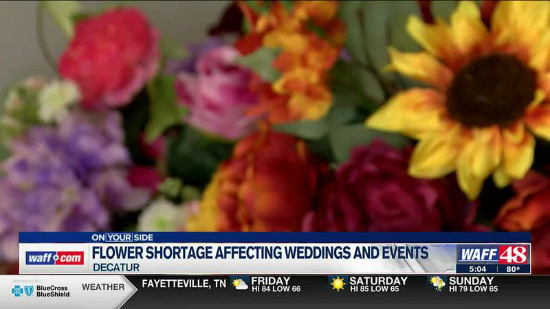 Flower shortage affecting weddings and events