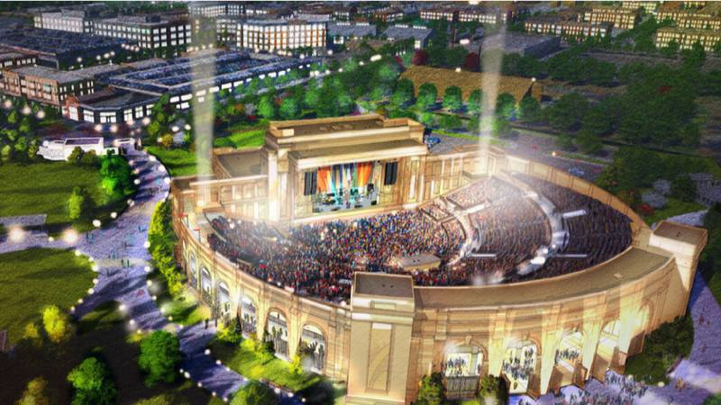 Rendering of the new Huntsville amphitheater