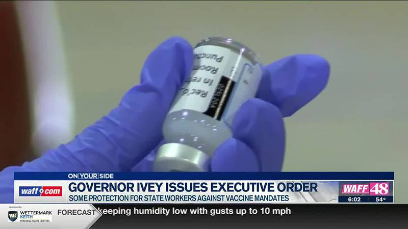 Governor Kay Ivey issued an executive order against federal vaccine mandates.