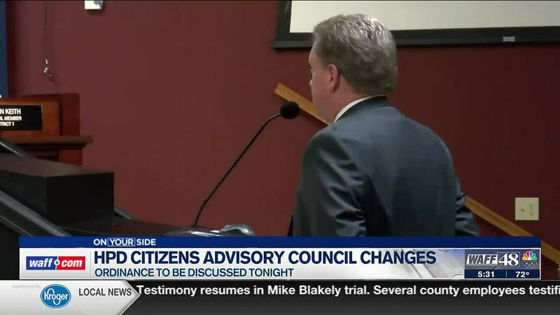 Changes to HPD Citizens Advisory to be discussed on Thursday