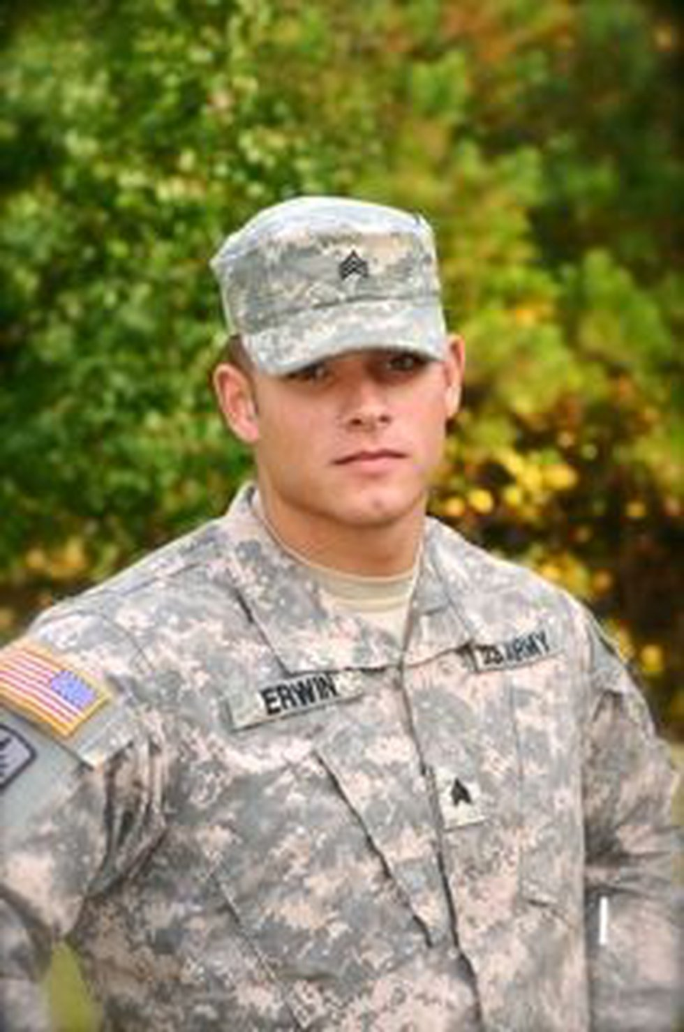 Colin Erwin was wounded by mortar fire in Afghanistan.