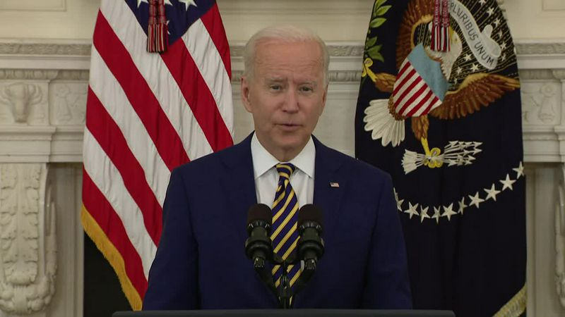 President Joe Biden commemorated a milestone of 300 million shots in 150 days during his...