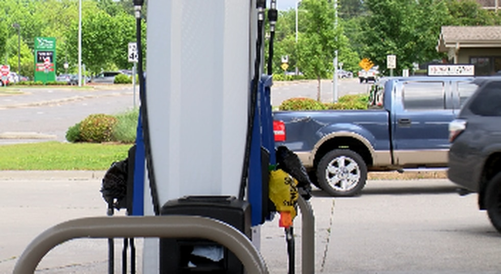 We found multiple gas stations in Huntsville with bags on the pumps Tuesday.