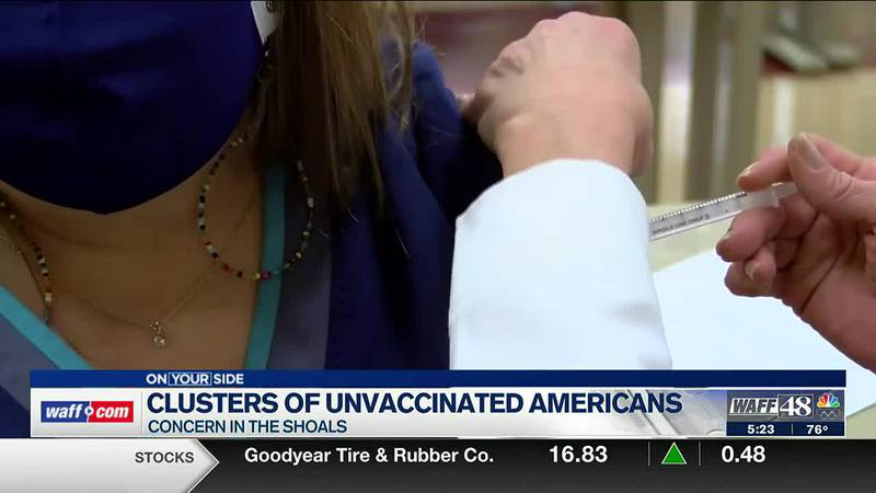 Clusters of unvaccinated Americans
