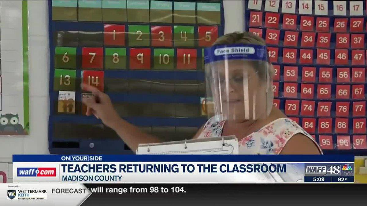 Teachers returning to the classroom
