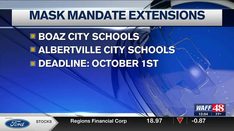 Several schools are extending their mask mandate to October first.
