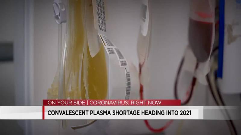 Plasma shortage headed into 2021