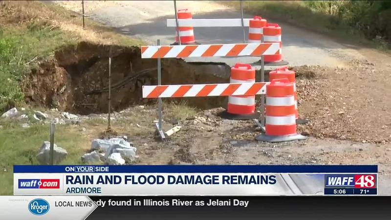 Rain and flood damage remains in Ardmore