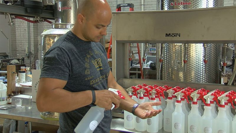 Dread River Distillery makes hand sanitizer for those in need