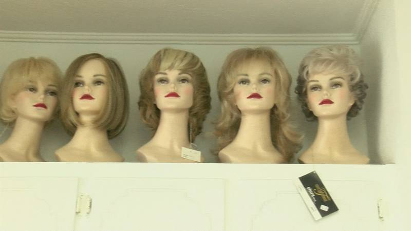 Wigs at No More Bad Hair Days hair boutique in Fort Payne.