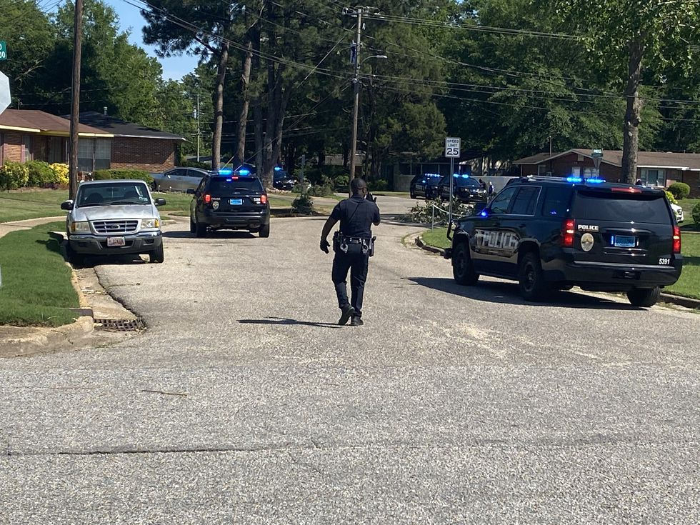 There is a large police presence in a north Montgomery neighborhood.